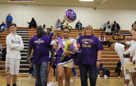 Basketball and Cheerleader Seniors Take On the Night at Senior Night