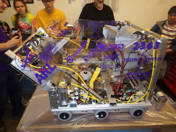 Triple Helixs robot for the 2017 competition season is the ninth in their Genome series of robots