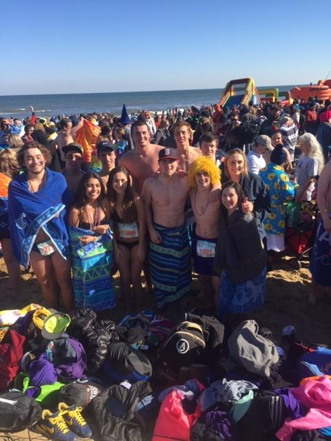 Cant wait till next year.  The Menchville SCA try to warm up after their dip in the ocean.  The Monarchs raised over $4000 for Special Olympics this year.