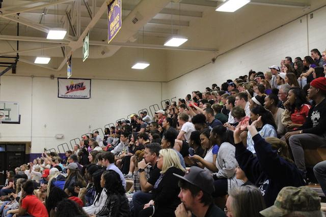 There was a big crowd to cheer on the players, but according to faculty coach Pete Mercier,