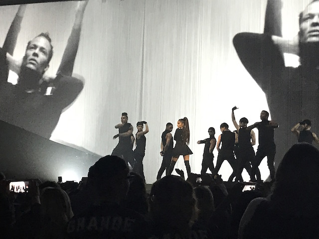 Ariana Grande ending her opening performance 'Be Alright' in Washington D.C