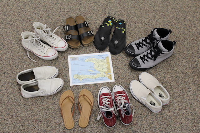 Through Mrs. Clancy's efforts, shoes will be delivered to Haiti.