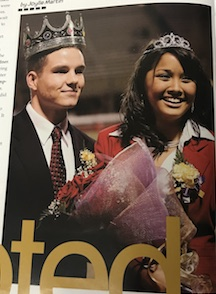 Circa 2005, R.J May and Monica Woodhouse being crowned Homecoming King and Queen at the Football game!