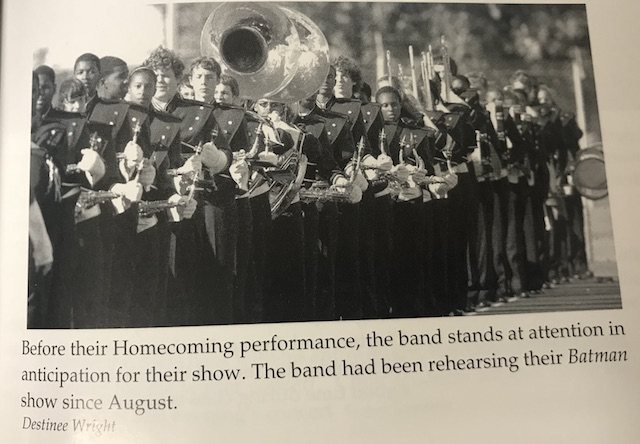 Circa 2007, Menchvilles Marching band standing in anticipation before their Homecoming performance.