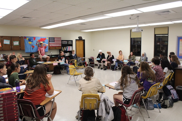 Mr. Patrick  Horan's homeroom AP U.S. History class participates in Meeting of the Minds.