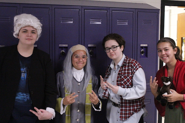 Students dressed up for the Meeting of the Minds.