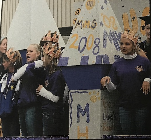 Circa 2005, Menchvilles Freshmen showing off their new found reign in their purple and gold palace.