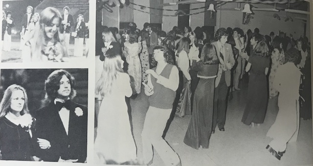 Circa 1975, Students hard work pays off as they dance to celebrate their accomplishments.
