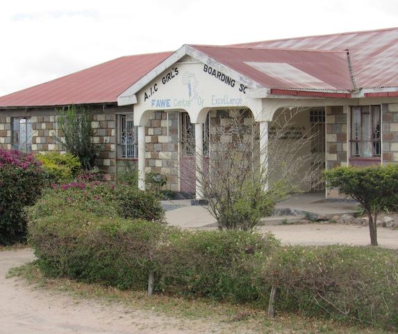 An all-girls boarding school in Kenya.