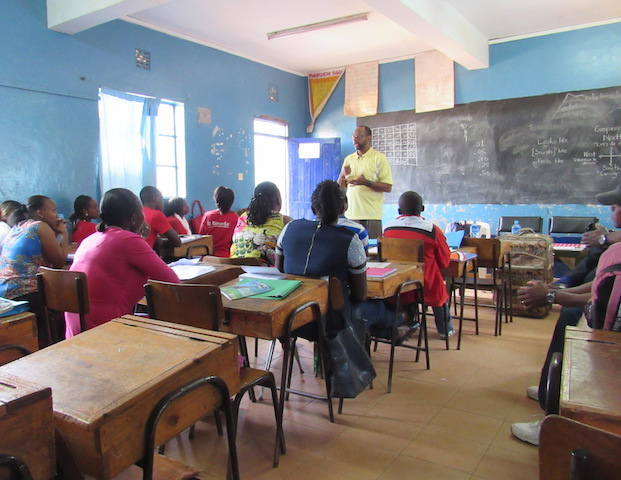 Adults take time to further their education in this classroom.
