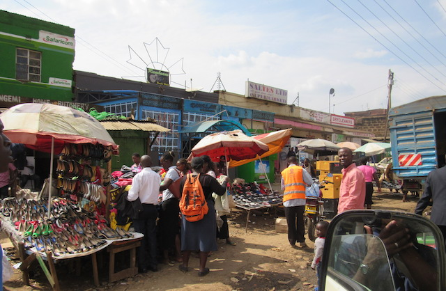 The market is a hub of bustling activity.