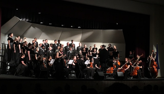 (Photo from Menchville's 2017 Winter Concert) The Menchville Orchestra and Symphonic Band will join forces to perform a night of spooky music.