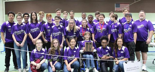 Menchville's Archery Team, back and bigger than ever, took first place in the first competition of the 2018 season.
