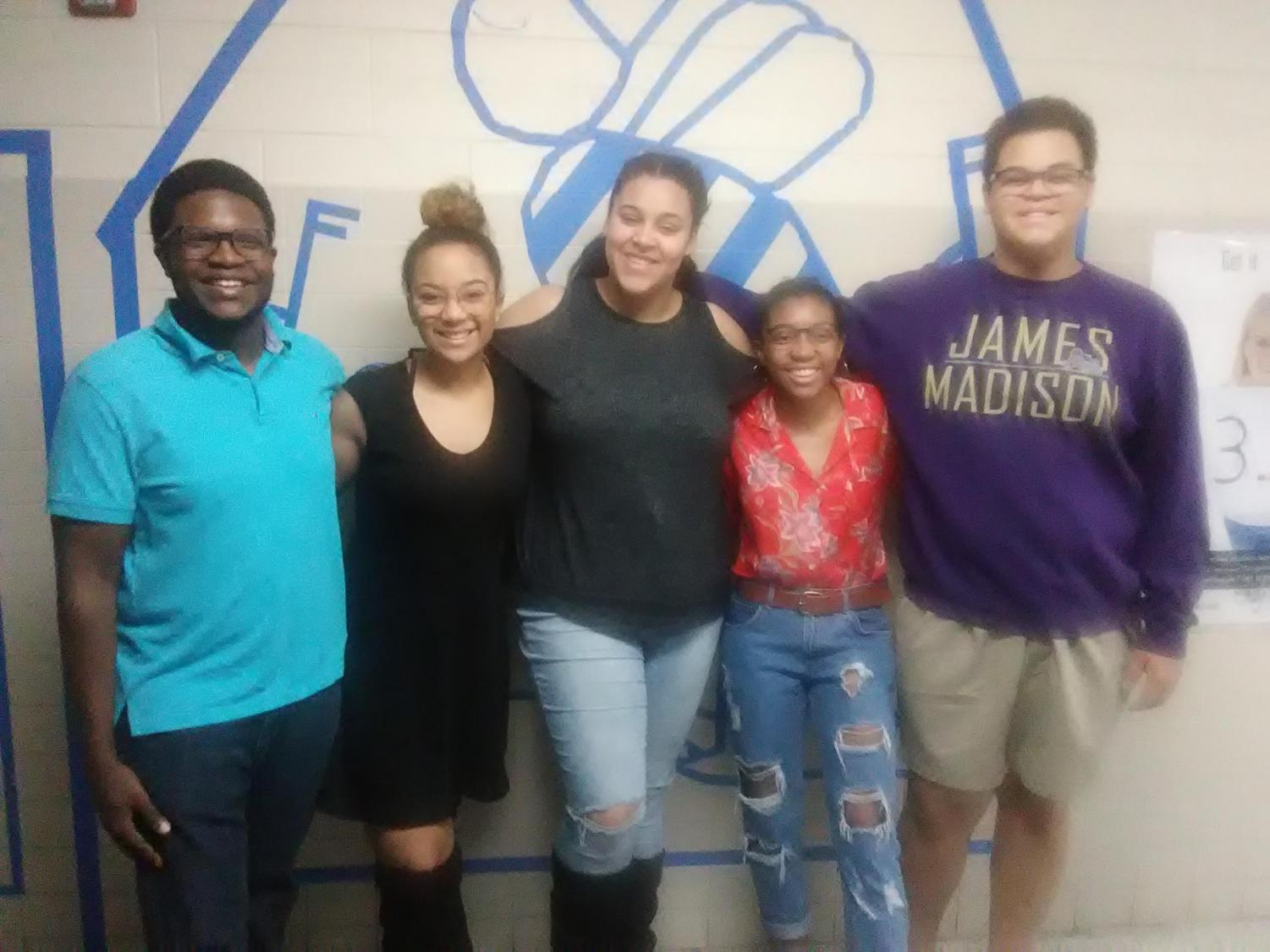 (M)Power (from left to right) Mario Jones,  Layla Zambrana, Chellina Daniel, Erika Gwynn and Noah Biava