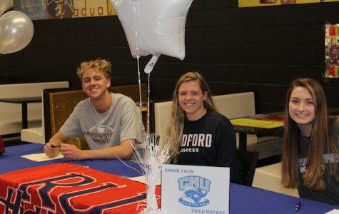 (From left to right) Ian Fitzgerald, Kaitlyn Casab, and Sarah Coon