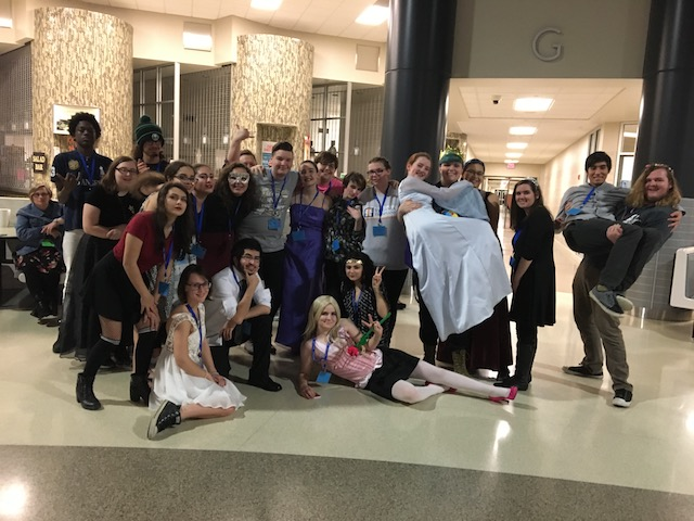 Students from the theatre department dressed up for a late night dance on Saturday, January 13th.