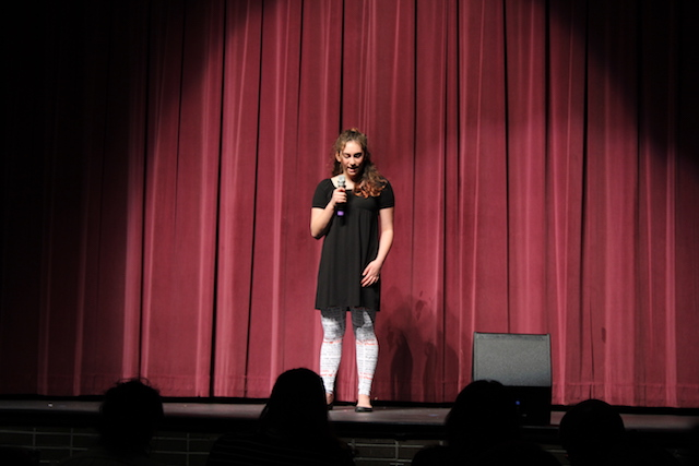 Alexis Swanenburg shows off her broadway bound voice in a solo performance.