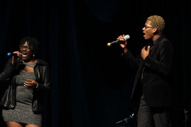 Jazmein Singleton and Quayvon Hilbert sing a passionate duet.