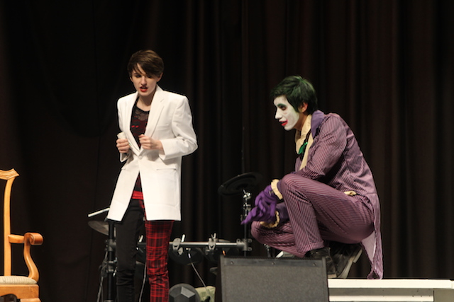 Oliver Smith-Nolker and Calder Holloway perform a duo scene as Harley Quinn and the Joker.