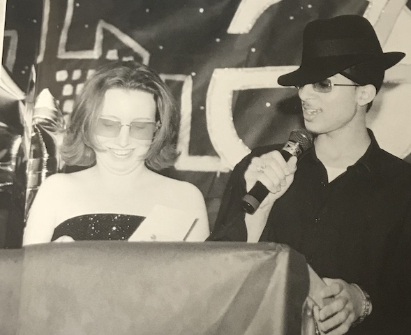 Senior Breakfast in 2002, Elizabeth McGee and Lacy Lozaw dressed up to represent the Retro Theme.