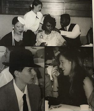 Senior class of 1997, dressing up for Senior Breakfast to represent their theme of Roaring back to the Twenties.