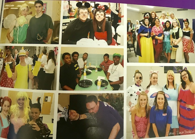 Class of 14 Seniors dressing up for their Senior Breakfast theme Dining with Disney.