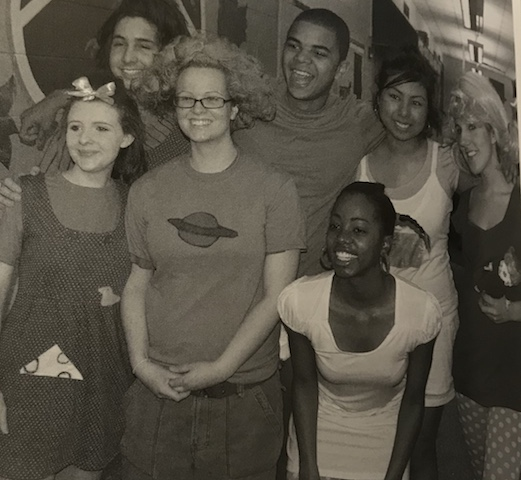 Group of Seniors in 2007 posing as the toddlers from Rugrats. Even though the theme was dynamic duos and trios, many friends dressed in groups to go above and beyond the theme.