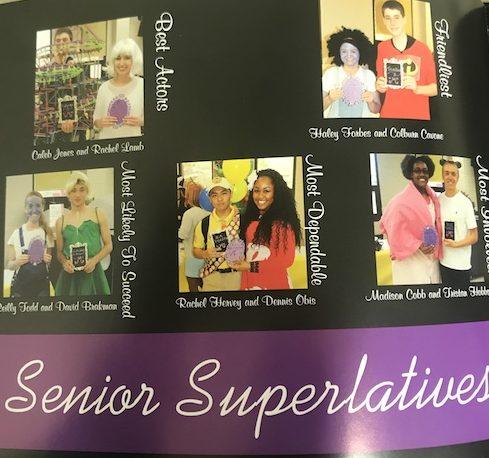 Class of 13 Senior Superlatives at Senior Breakfast.