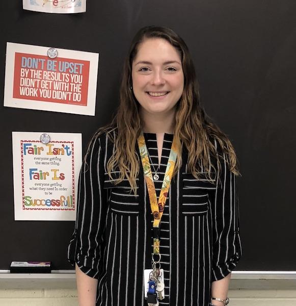 Elizabeth Koutsigiannis, a new English teacher.