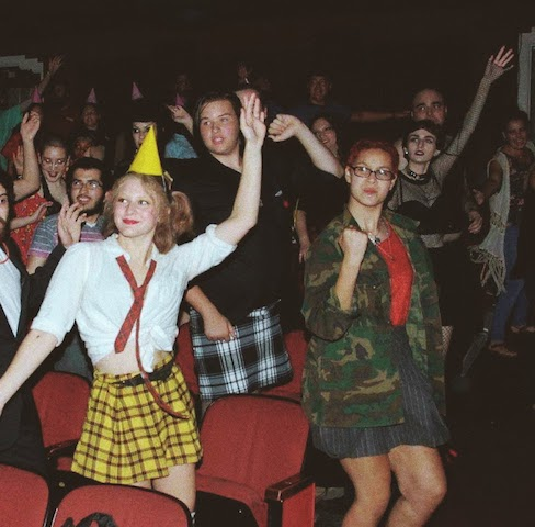 Students from Menchville High School attend a performance of the Rocky Horror Picture Show at the Naro Cinema.