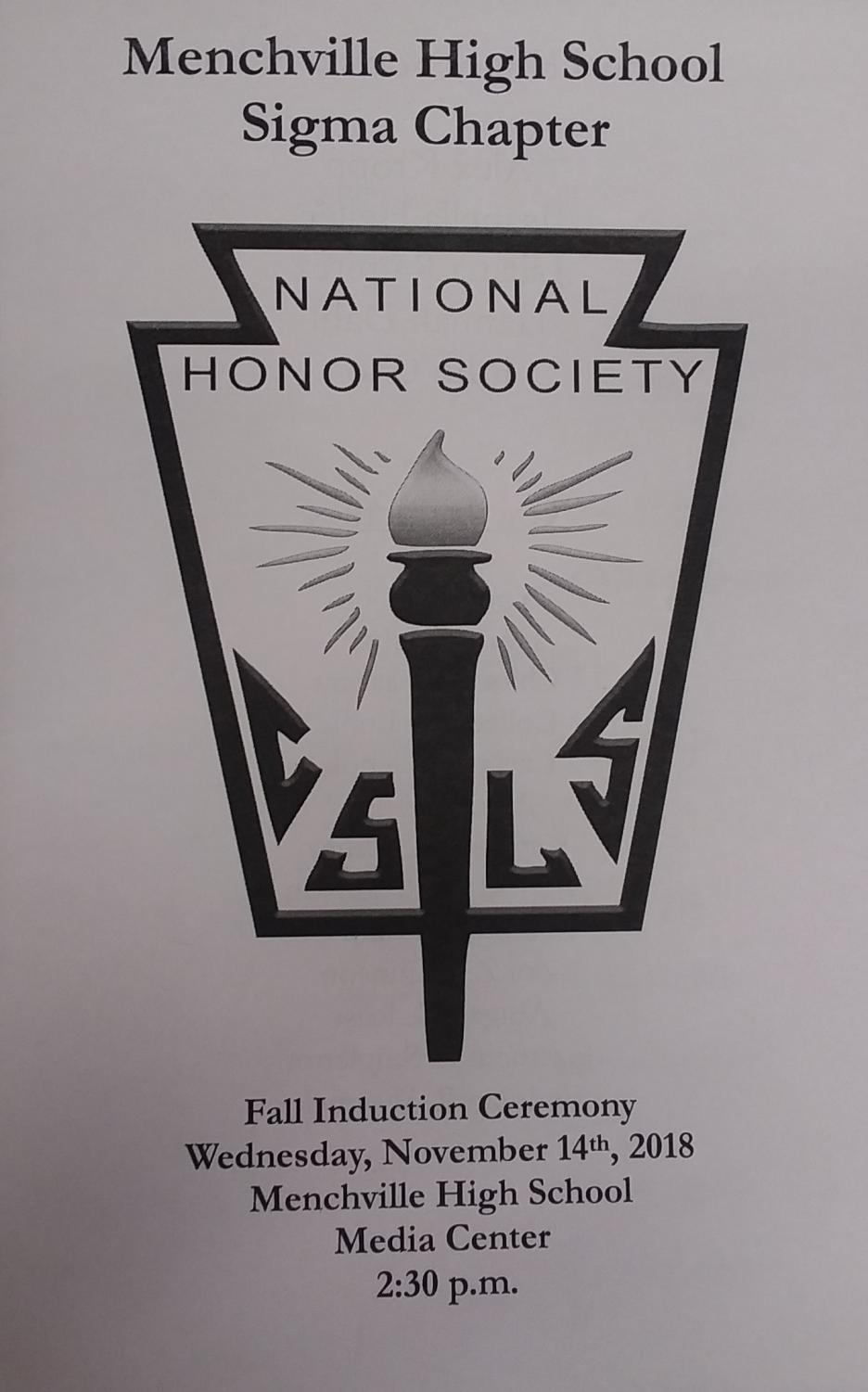 Thirteen new senior members were honored and inducted into the National Honor Society in Wednesday's ceremony.