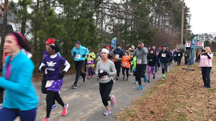 Runners brace for the cold