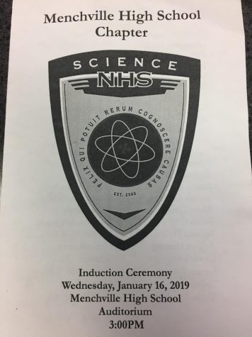 The newly formed National Science Honor Society inducted their first new members on Wednesday, January 16.
