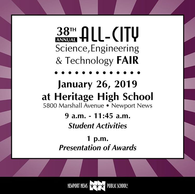 Menchville students participated in the All-City Science Fair Saturday, January 26.