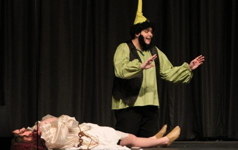 Adam Dunlap plays a dwarf in Snow White, but he proposes his own adjustments to the traditional storyline.
