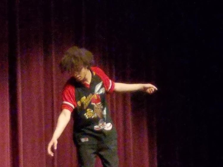 Isaiah Rogers performing a dance routine for the Talent Show