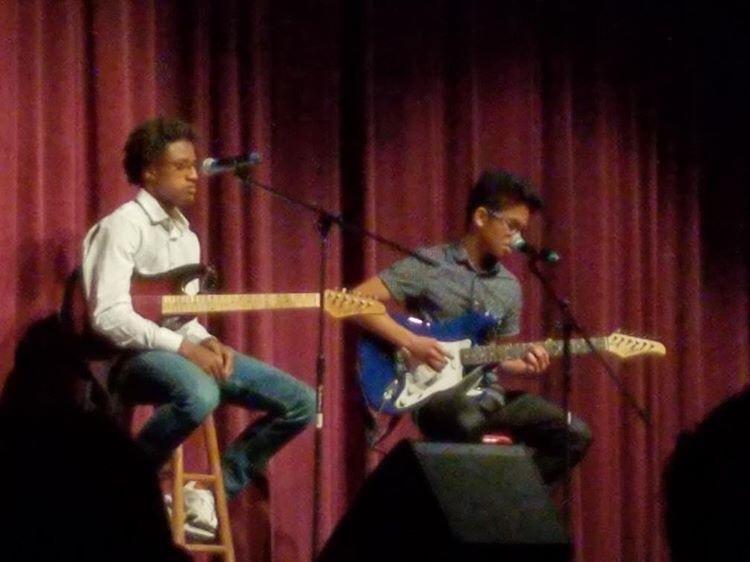 Art Romera and Jeremiah Bullock performing