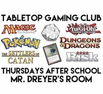 Menchville Introduces the Tabletop Gaming Club