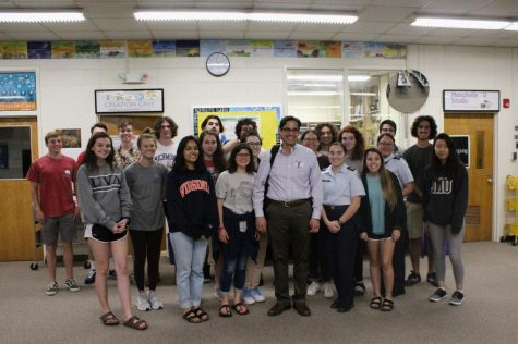 The Honors Research class invited Dr. Brant Ramirez to speak on Parkinson