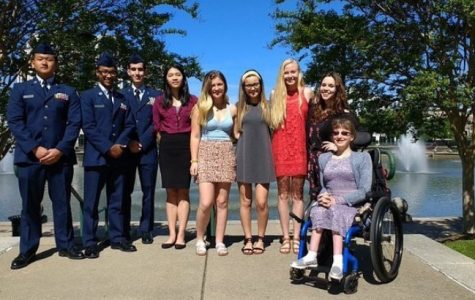 Menchville students from Air Force JROTC, Fare Share, and Student Council Association represented their school at the Newport News Public Schools 2018-2019 Secondary STAR Awards luncheon on Tuesday, April 23.
