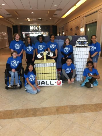 Wall-E and Eve help end hunger- Lead2Feed participates in Canstruction