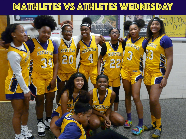 Wednesday%27s+theme+was+a+showdown%3A+Mathletes+vs+Athletes.