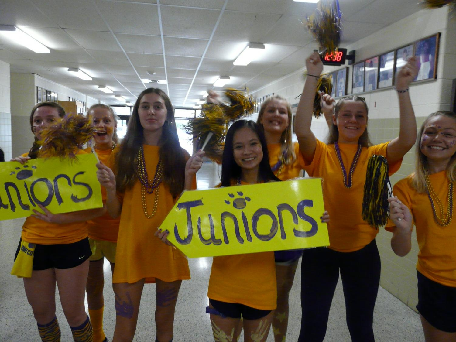 As+upperclassmen%2C+the+juniors+are+finally+able+to+wear+a+school+color-+gold.