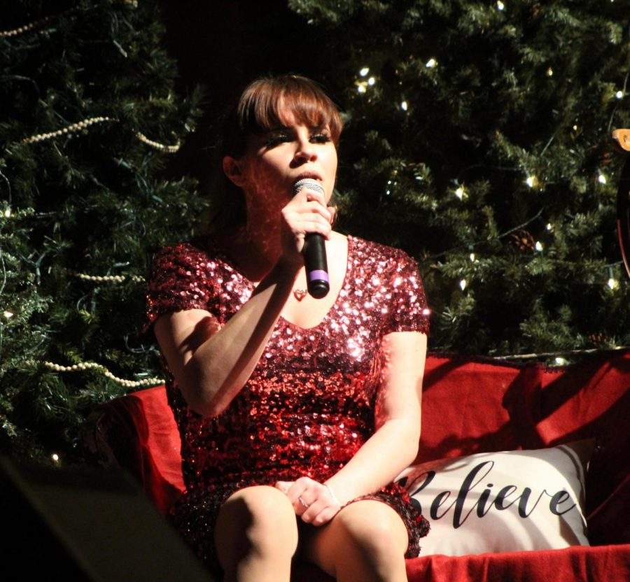 Junior Sophia Ottofaro performs a solo, singing