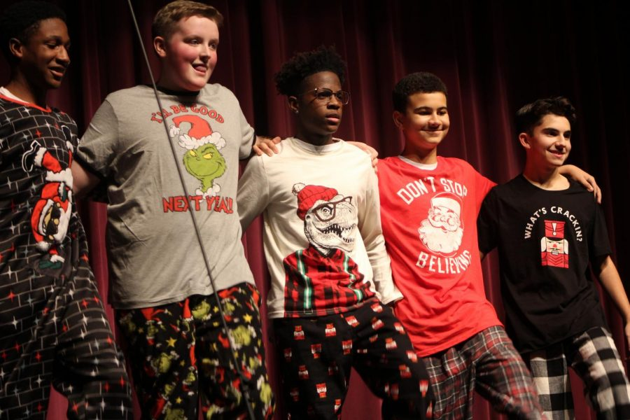 The Freshman Five perform a song during the winter Choir concert.