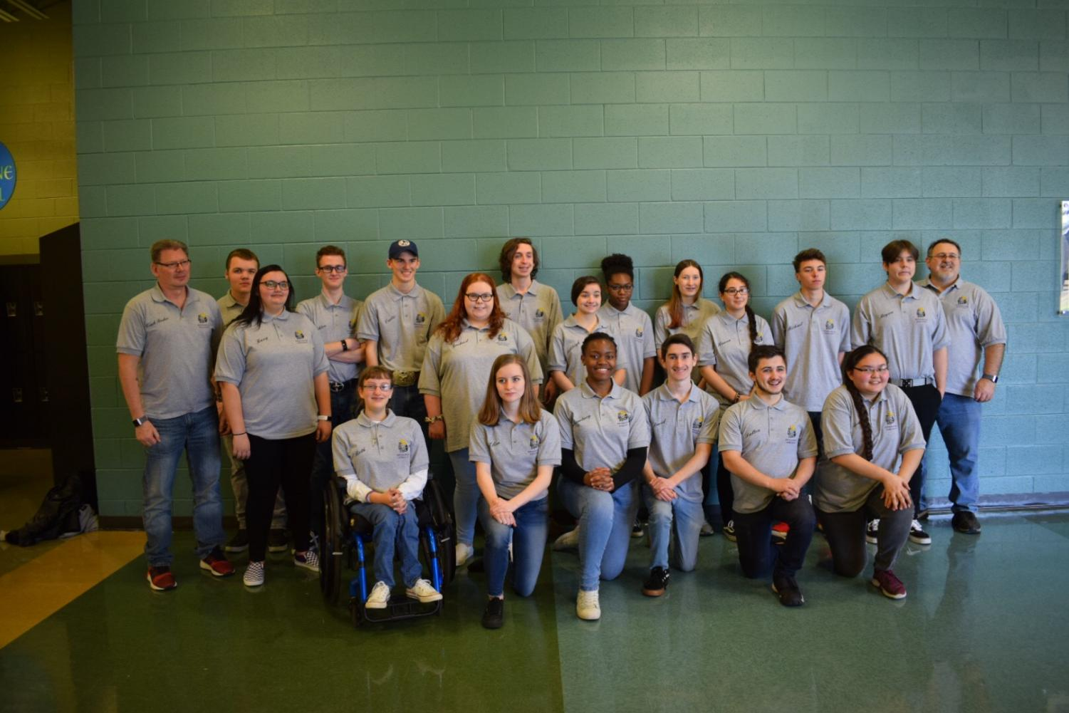 Menchville's archery team placed first in their regional tournament Monday, January 17, with a final score of 3221.