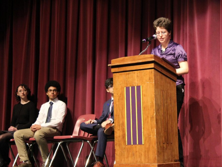 Senior Jax Warner speaks on failure, explaining how some of our greatest inventions, like matches and post-it notes, are really the result of failures.