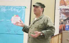 Historian Chris Garcia visited Mrs. Julia Eichenlaub's class on Tuesday, February 25 to discuss World War II.