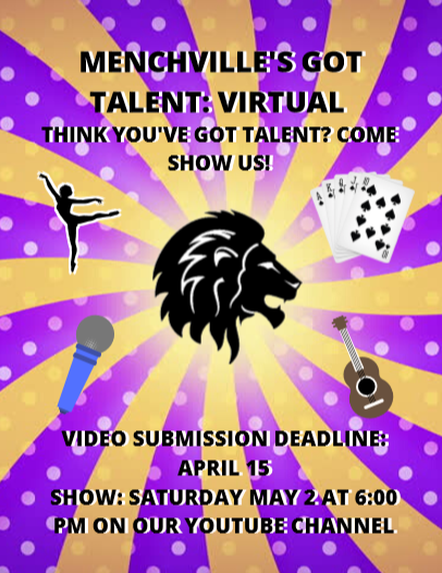Menchville's annual talent show will be hosted virtually this year. Participants may submit videos of their acts, which will be combined into one video.