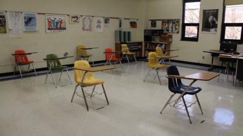 Furniture in classrooms is spaced according to CDC guidelines.
